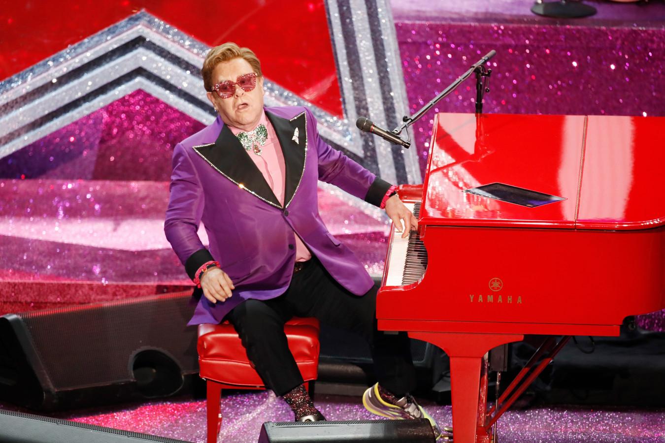 De Britse zanger Elton John.