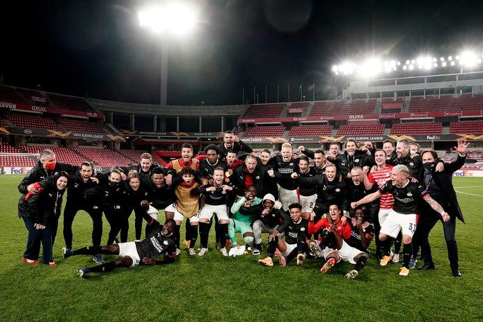 PSV viert feest in Granada