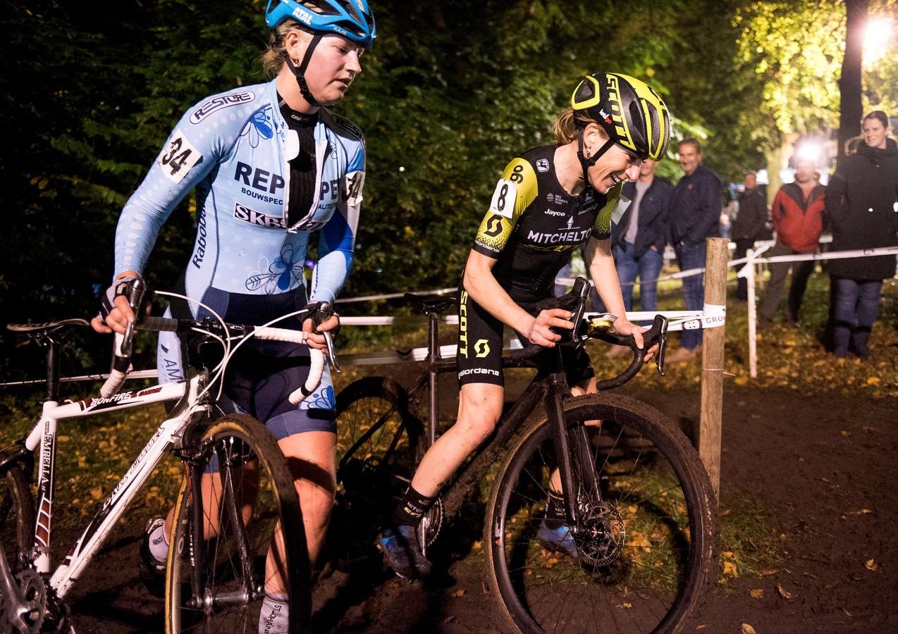 Annemiek van Vleuten reed vorig jaar mee tijdens de Kiremko Nacht van Woerden.