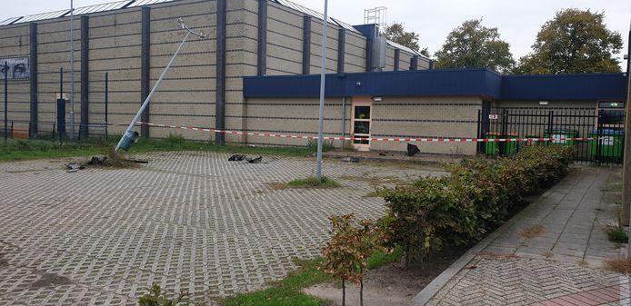 De parkeerplaats waar het gebeurde.
