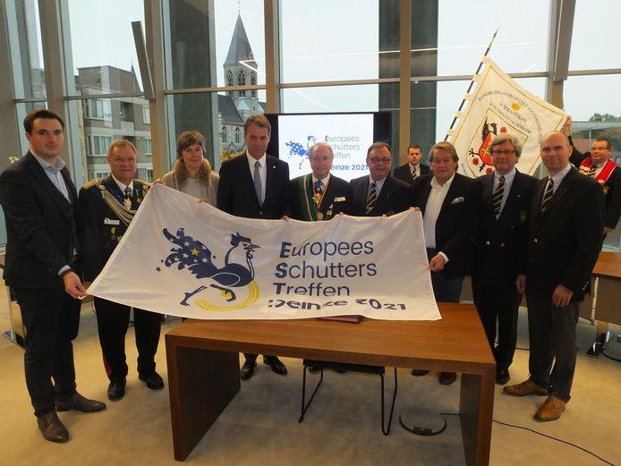 De komst van het Europees Schutterstreffen naar Deinze werd in 2016 aangekondigd (archiefbeeld).