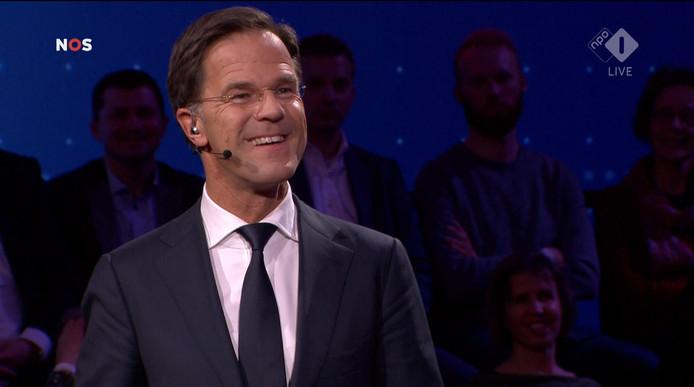 Mark Rutte (VVD) tijdens zijn black-out.