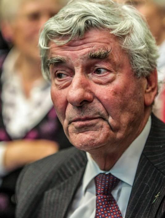 Oud-premier Ruud Lubbers (78) tijdens een CDA-congres in 2010.