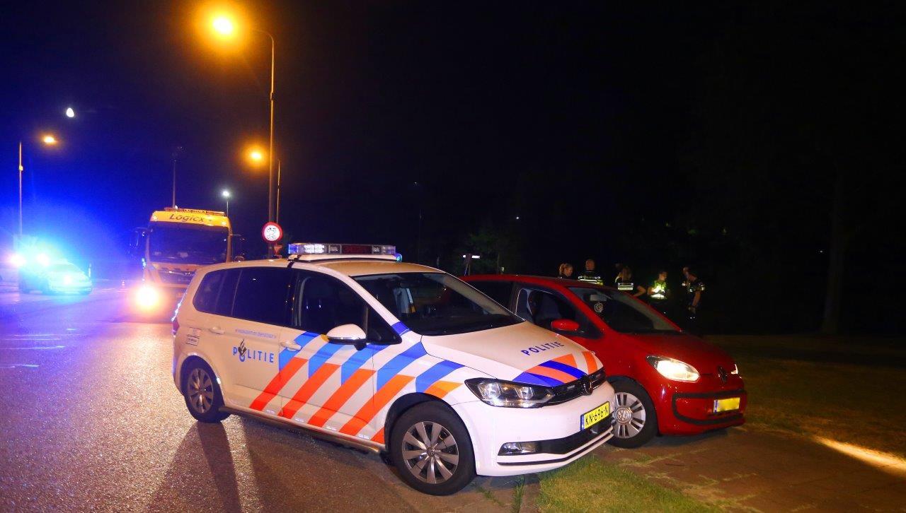De politie dwong de man tot stoppen op de Zevenhontseweg bij de Bruistensingel in Den Bosch.