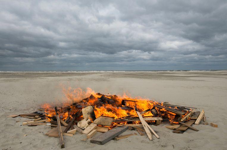 Op het strand van Terschelling. Beeld Hollandse Hoogte / Luuk van der Lee Fotografie