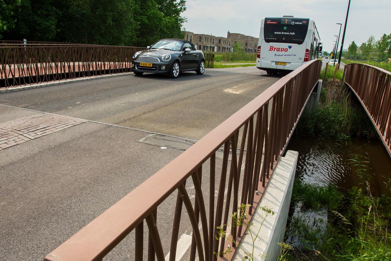 De brug in de Koolhovenlaan, waar sinds februari alleen bussen en auto's overheen mogen.