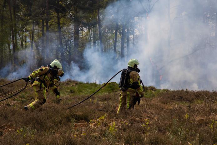Een heidebrand bij Beuningen, april vorig jaar.