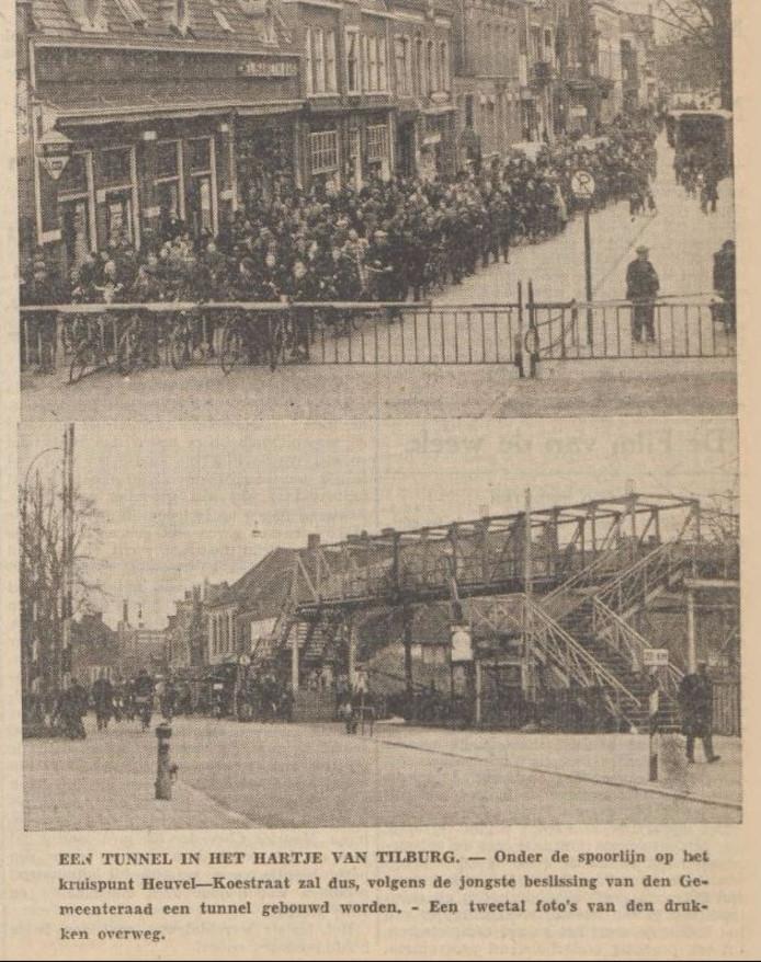 Bericht over tunnelbesluit in Nieuwe Tilburgsche Courant van 11 maart 1939.