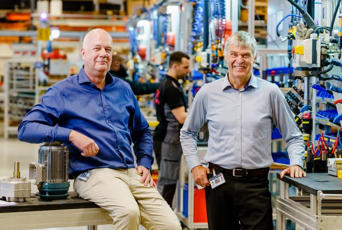 Victor Winter (links) en Ton Verschuren van SEW-Eurodrive.