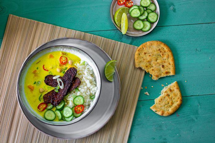 Tempeh is een koek van sojabonen afkomstig uit Indonesië.