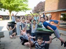 Oerlese school fanatiek bezig met E-waste Race