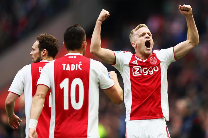 Ajax gaat voor een recordaantal doelpunten.