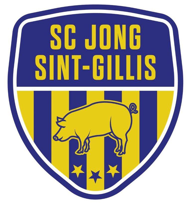 Blauw- geel en het varken uit het wapenschild in het logo van de club om de band met Sint-Gillis-Dendermonde te onderstrepen.