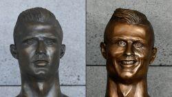 Mislukt standbeeld van Ronaldo is discreet vervangen door betere versie
