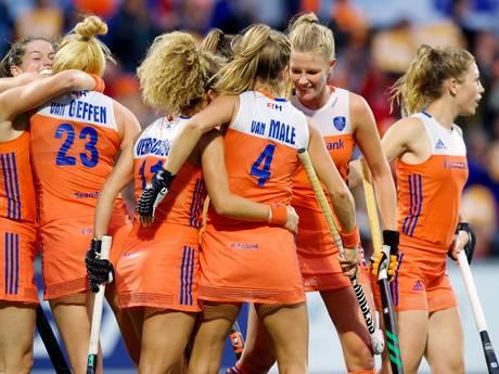 Hockeysters Oranje na twee zeges al naar halve finale op EK