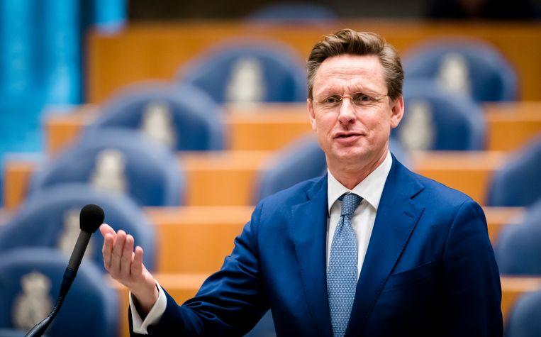VVD-kamerlid Han ten Broeke (VVD) tijdens een plenair debat in de Tweede Kamer. Beeld ANP