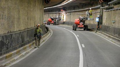 Eerste files bij afgesloten Leopold II-tunnel in Brussel