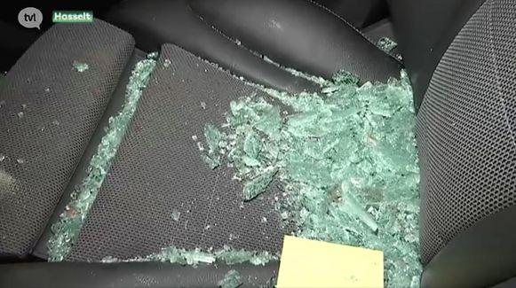 TV Limburg kon de beschadigde wagens filmen.