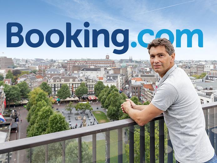 Oprichter Geert-Jan Bruinsma op het dakterras in Amsterdam