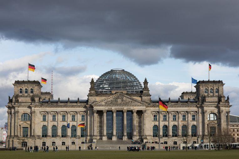 Het Reichstaggebouw in Berlijn, het belangrijkste regeringsgebouw in Duitsland. Beeld ANP