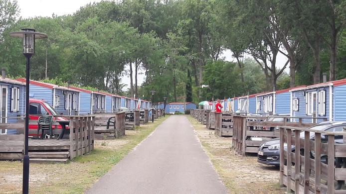 Stacaravans op Marina Beach bij Hoek, door de Oostappen Groep daar geplaatst na de overname van toen nog recreatiecentrum De Braakman in 2013.