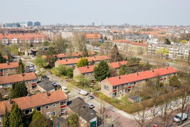 Panden van woningcorporatie Ymere in de Rudolf Dieselstraat. Beeld ANP