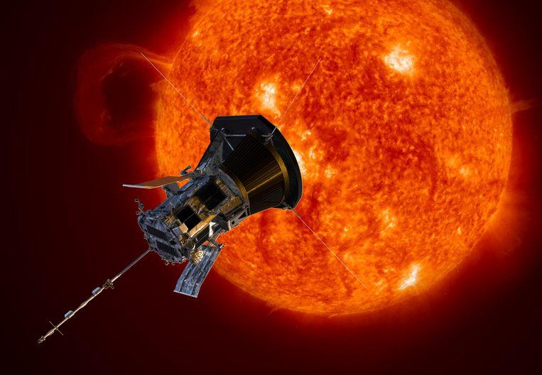 Tekening van de Parker Solar Probe. Beeld null