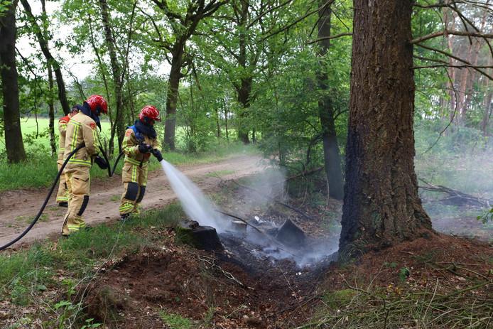 Afval in brand in Sint-Oedenrode