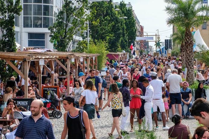 Dit weekend was het over de koppen lopen tijdens Brussel Bad.