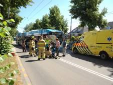 Ongeluk trolleybus en scootmobiel, deel Velperweg afgesloten
