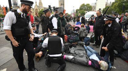 Bijna 300 arrestaties bij klimaatprotesten in Londen