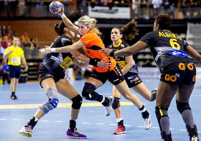 Nederland won met 31-21 van Spanje. Beeld null