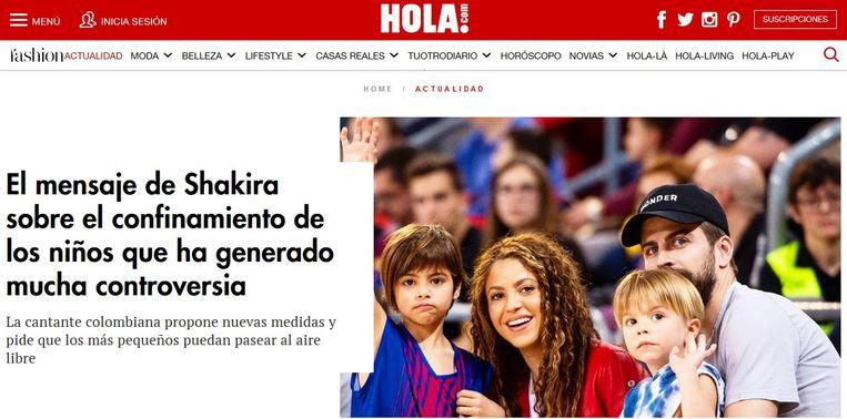 Zangeres Shakira mengde zich in de discussie. Beeld