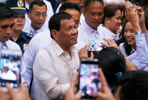 De Filipijnse Rodrigo Duterte.
