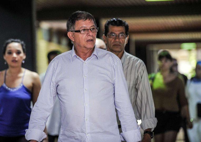 FARC-leider Rodrigo Granda arriveert 9 november in Havana voor het vredesoverleg. Beeld afp