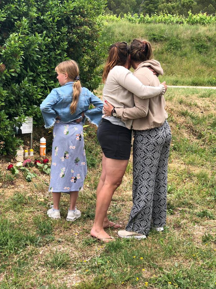 Kim en haar dochters Sophie en Guusje.