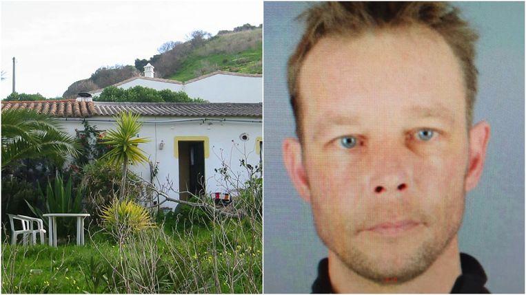 Hoofdverdachte Christian Brückner en het huis waar hij in verbleef in Portugal. Volgens documenten die Der Spiegel kon inkijken, fantaseerde hij in chats over het ontvoeren en seksueel misbruiken van kinderen.