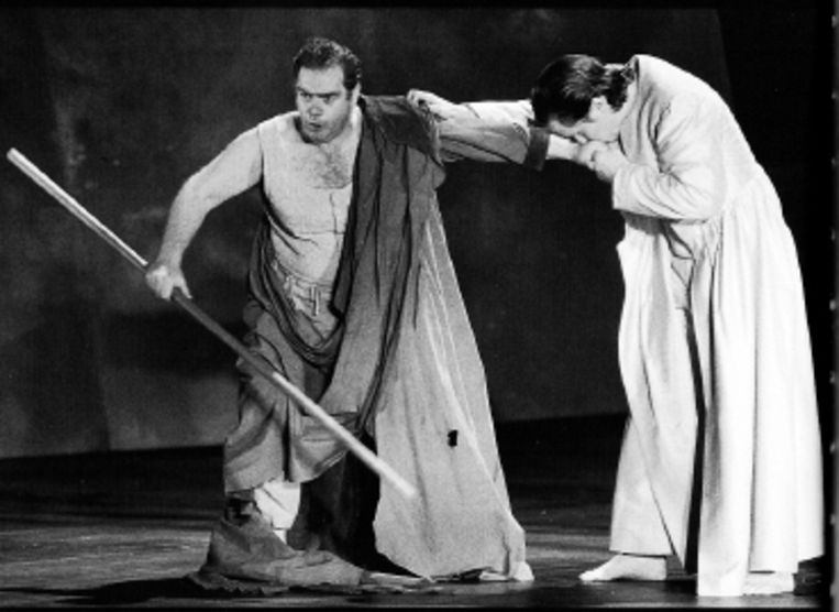 Anthony Rolfe Johnson als Odysseus in Monteverdi?s opera in Amsterdam. (FOTO RUTH WALZ) Beeld