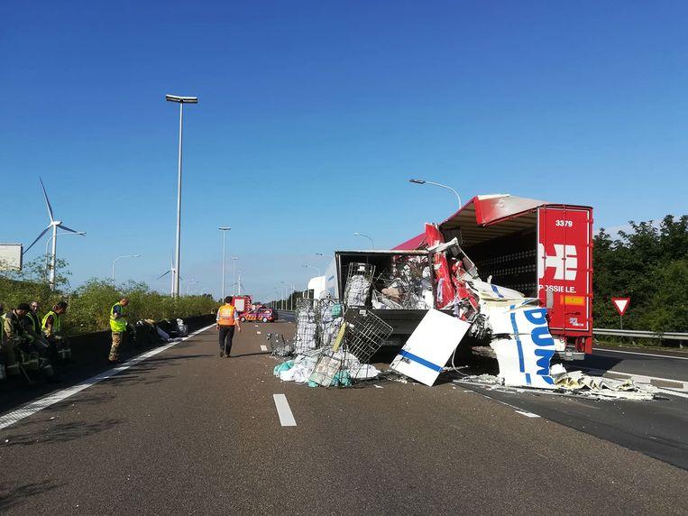 Ook in Lokeren gebeurde een ongeval in de staart van file.