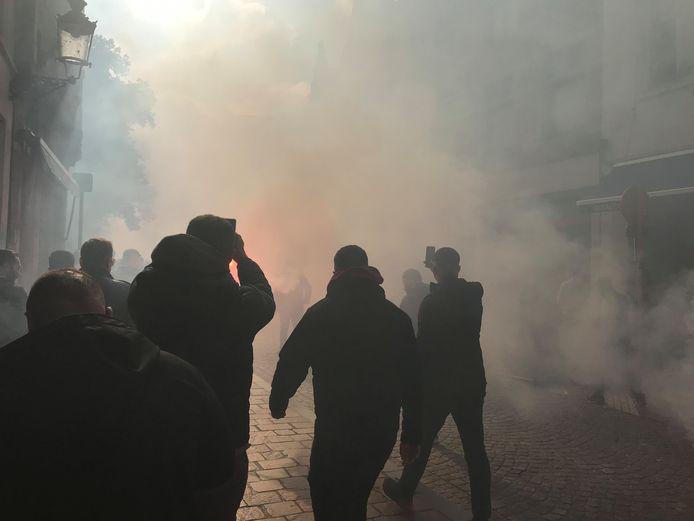 Turkse fans palmen Brugge