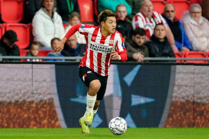 Ritsu Doan tijdens PSV-VVV van eerder deze maand.