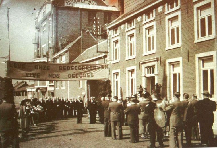 Feest bij de brouwerij Loriers in 1953