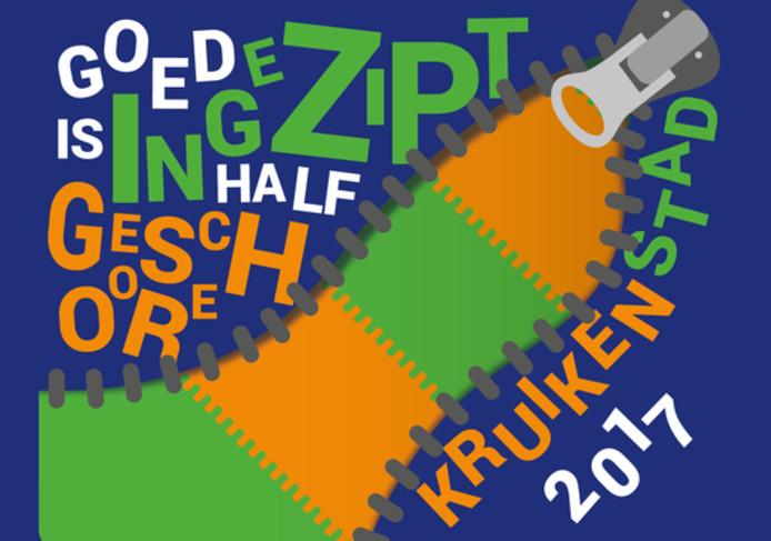 Bij het motto 'Goed ingezipt is half geschoore' hoort in het Tilburgse carnavalsseizoen 2016-2017 dit logo.