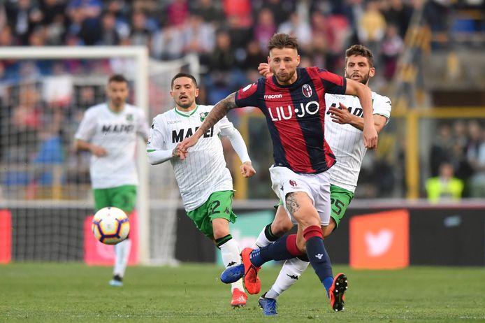 Mitchell Dijks kan voorlopig niet in actie komen voor Bologna.