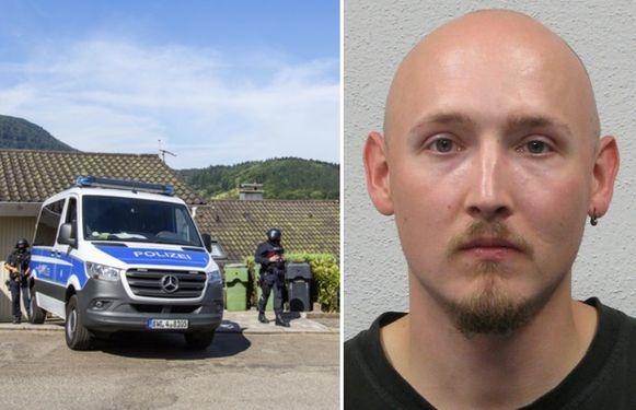 De 31-jarige Yves Rausch zou zich verschuilen in de bosrijke omgeving van Oppenau, op 50 km van Freiburg.
