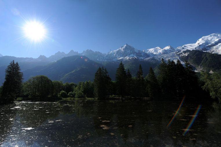 Chamonix-Mont-Blanc in de Franse Alpen. Beeld anp