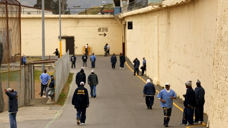 De San Quentin State Prison in San Quentin. Beeld null