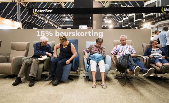 Bezoekers van de 50PlusBeurs in de Jaarbeurs in Utrecht, editie 2016.