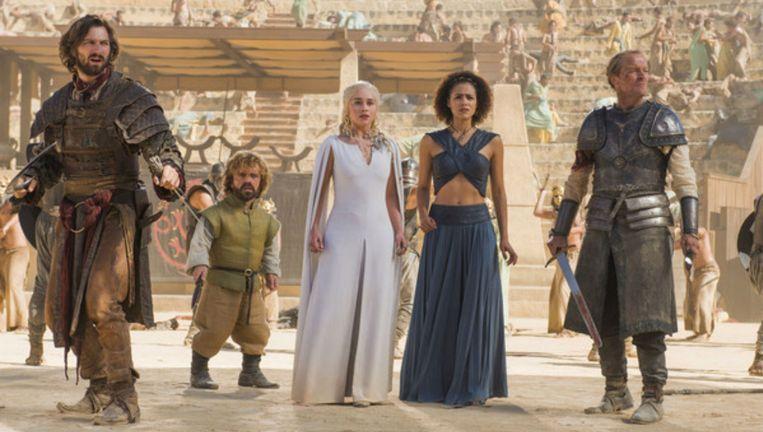 Huisman (links) in Game of Thrones Beeld Nick Wall