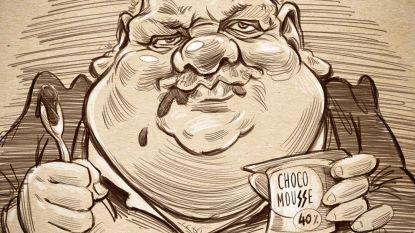 Tekenaar maakt parodie op chocomousse van Guy D'haeseleer